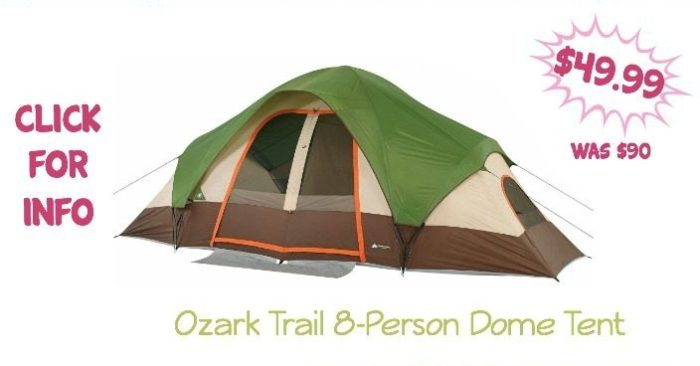 Ozark Trail 8-Person Dome Tent Just $49.99! (Was $90)