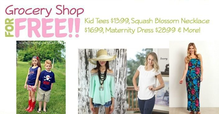 Kid Tees $13.99, Squash Blossom Necklace $16.99, Maternity Dress $28.99!