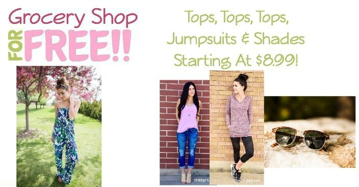 Tops, Tops, Tops, Jumpsuits & Shades Starting at $8.99!