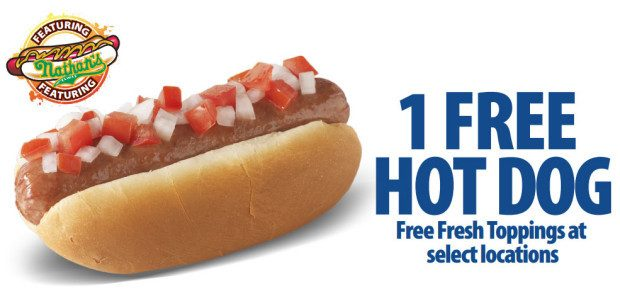 FREE Nathan's Hot Dog At Race Trac!