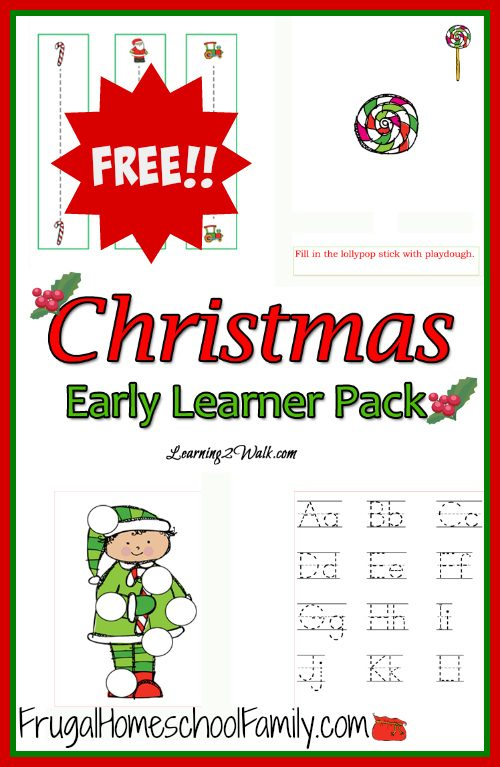 free preschool christmas learning pack