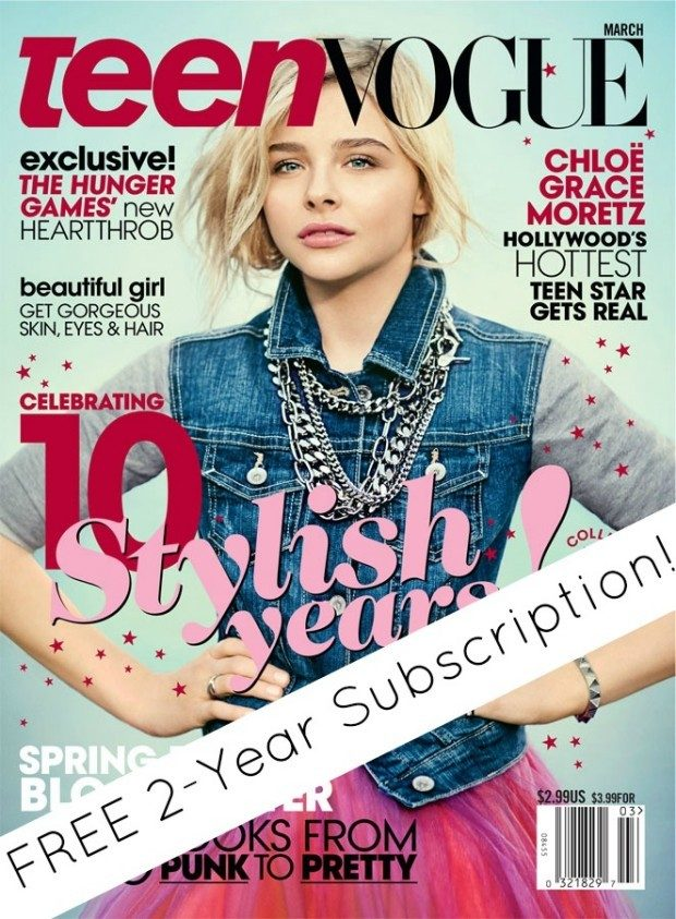 FREE 2-Year Teen Vogue Subscription!