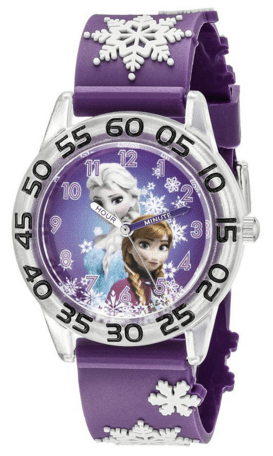 Disney Kids' Frozen Time Teacher Analog Display Analog Quartz Purple Watch Just $18 Down From $25!