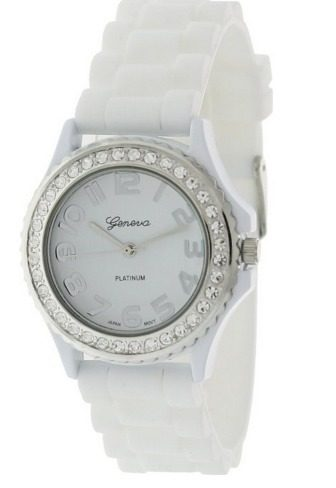 Geneva Platinum CZ Accented Watch Just $3.92 SHIPPED!