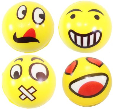Big Happy Face Stress Balls - 4 Pc Set Only $6.95! Ships FREE!
