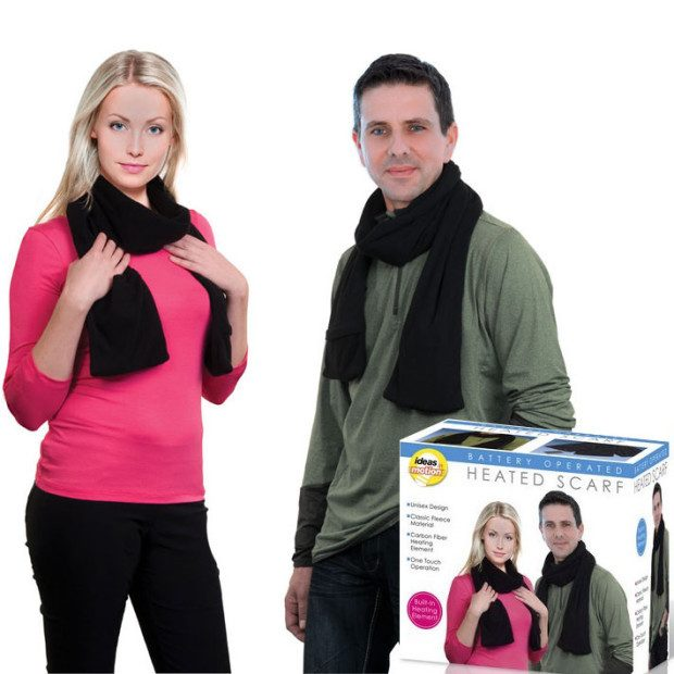 Battery Operated Unisex Heated Scarf Just $12.49! Ships FREE!