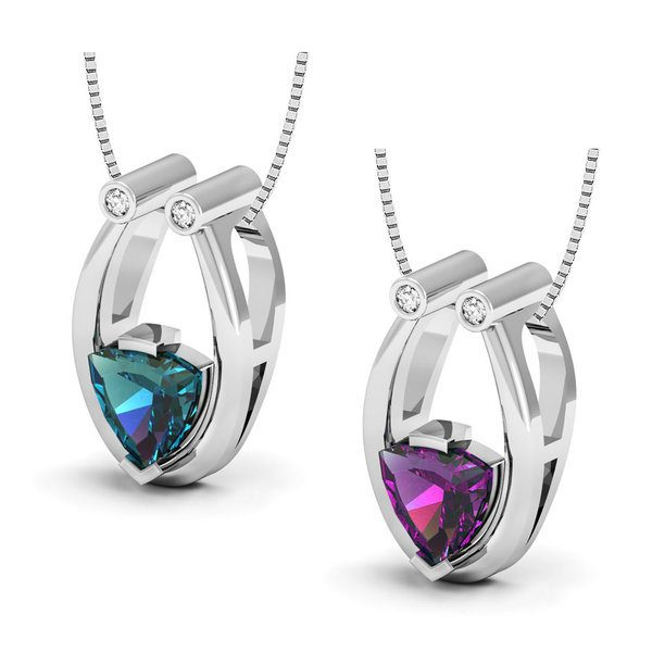 Pendant Made with Lab Created Alexandrite Only $10.49! Down From $249.95!