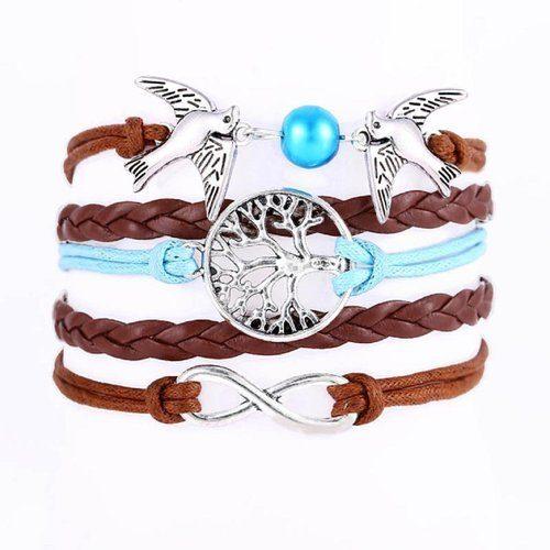 Susenstone®Handmade Multilayer Wristband Bracelet Only $3.30 Ships FREE!