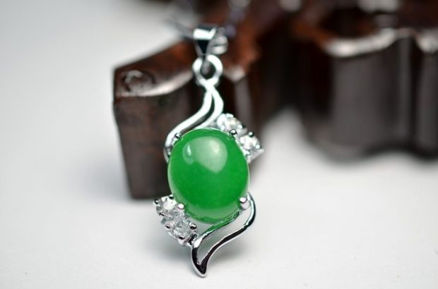 Tibet Silver & Green Jade Pendant Only $2.35! Ships FREE!