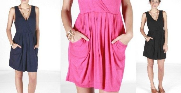 Simple Pocketed V-Neck Dress Only $23.98 Shipped!