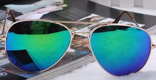 Mirrored Aviator Sunglasses UV400 - 10 Choices Only $3.95!