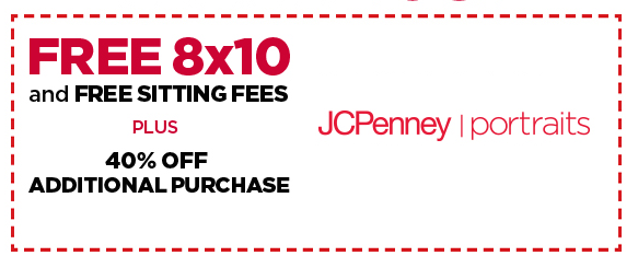 FREE Sitting Fees & 8 By 10 Portrait At JCPenney!