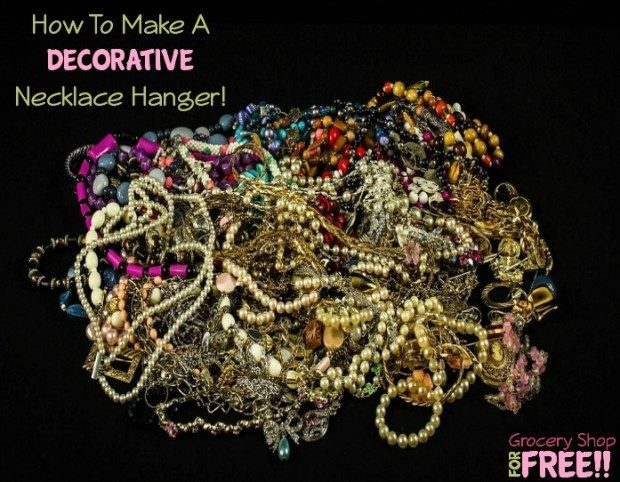 How To Make A Decorative Necklace Hanger!