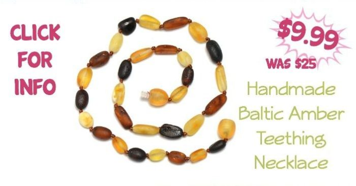 Handmade Baltic Amber Teething Necklace Only $9.99 (Reg $25