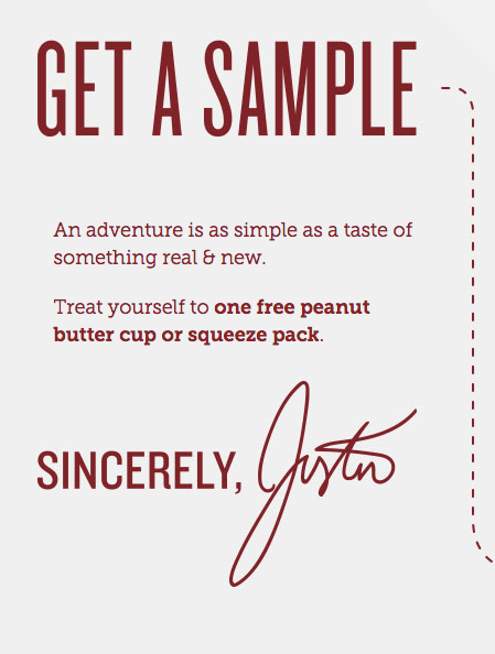 FREE Peanut Butter Cup Or Squeeze Pack From Justins!