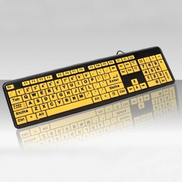 Large Print Spill Resistant Keyboard Only $6.99 Plus FREE Shipping!