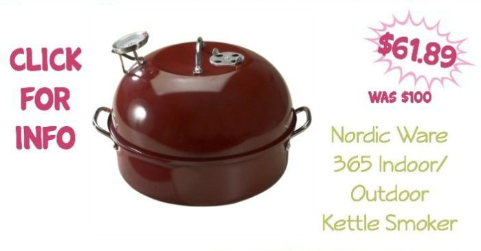 Nordic Ware 365 Indoor/Outdoor Kettle Smoker Only $61.89!