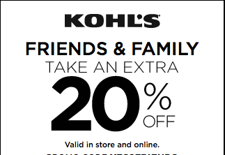 Just In Time For Father's Day-20% Off Friends & Family Sale At Kohl's!