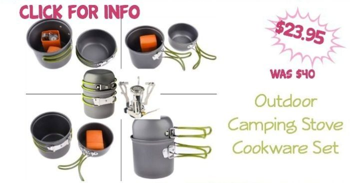Outdoor Camping Stove Cookware Set Only $23.95 (Was $40)