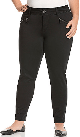 Zip Pocket Sateen Skinny Pant $23.99 At Lane Bryant!