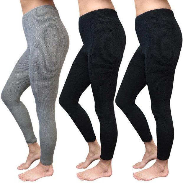 Winter Thermal Knit Leggings 3 Pr Only $14 Shipped!