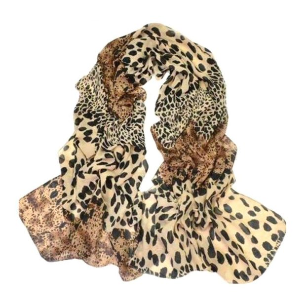 Classic Leopard Print Chiffon Scarf Only $2.21!  Ships FREE!
