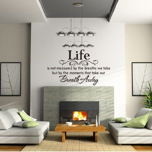 Life Is Not Measured... Wall Decal Only $2.35 Ships FREE!