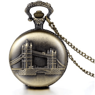 Retro London Bridge Pattern Bronze Pocket Watch  Just $12.84 Down From $40!