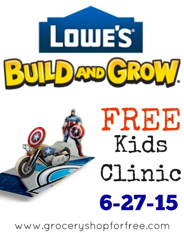 FREE Lowe's Build and Grow Clinic On June 27!