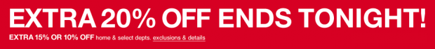 Last Day For Extra 20% Off At Macy's!