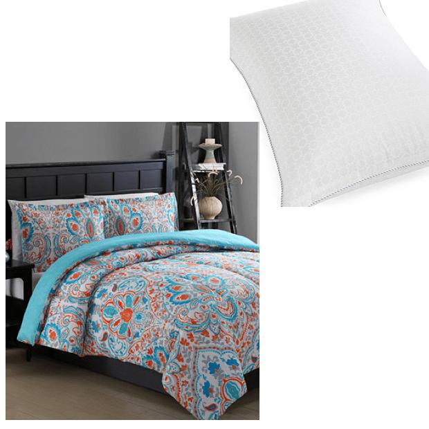3 Pc Comforter Set + Pillow Just $20.98!