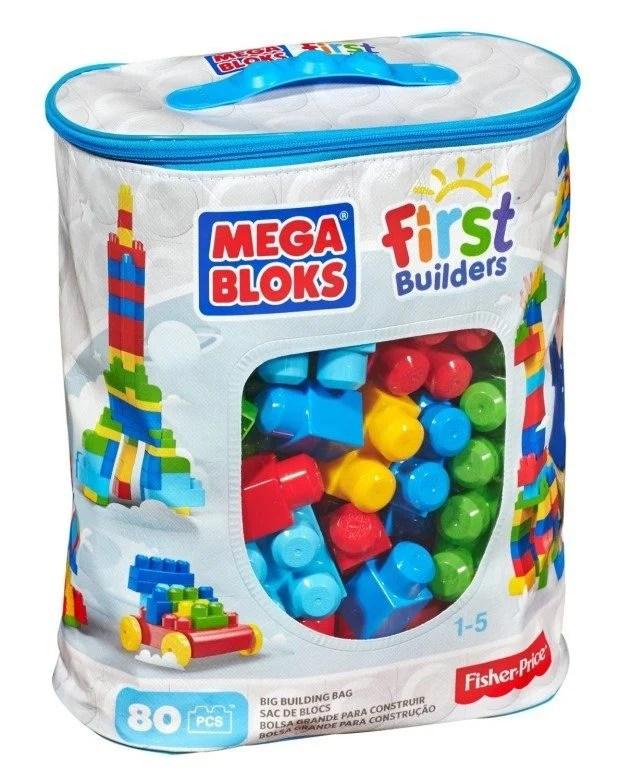Mega Bloks First Builders Big Building Bag, 80-Piece Just $14.50 (Reg. $24.99)!