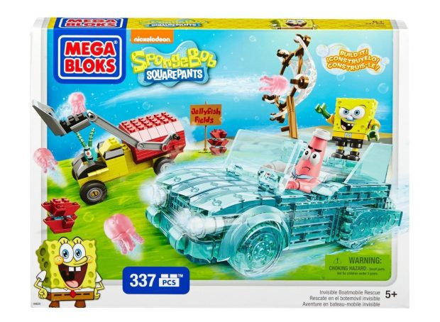 Mega Bloks SpongeBob Invisible Boatmobile Rescue Only $8.78!  Reg. $20!