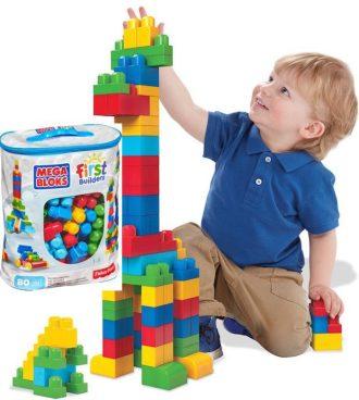 Price Drop! Mega Bloks First Builders Big Building Bag, 80-Piece Only $11.95! (Reg. $25)