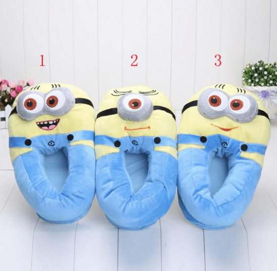 Despicable Me Minions Plush Stuffed Slippers Only $11.41!