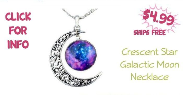 Crescent Star Galactic Moon Necklace Only $4.99! Ships FREE!