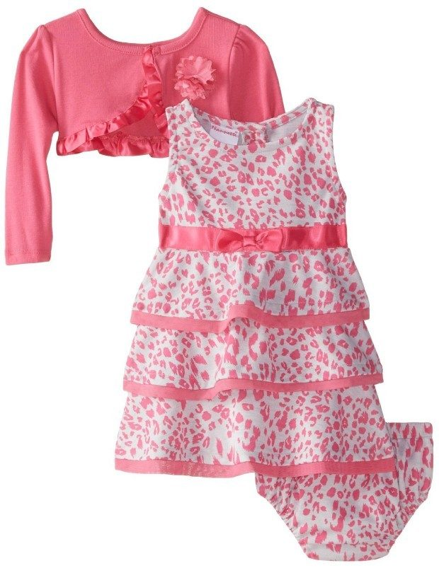 Printed Knit Dress With Mock Shrug & Panty Only $14.99! (Reg. $35)