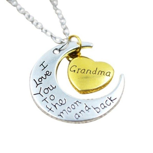 Grandma - I Love You To The Moon & Back Necklace Only $6.98 + FREE Shipping!