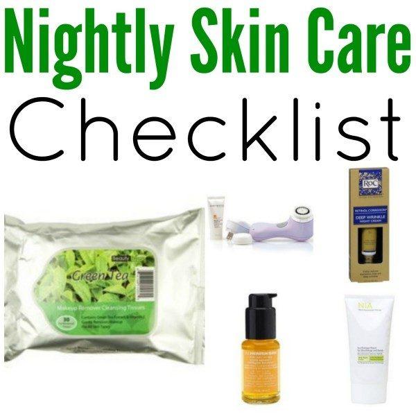 Night Skin Care Routine Checklist!