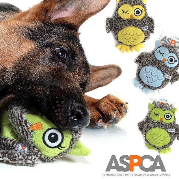 ASPCA Plush Owl Dog Toys $7/1 Or $12/2 Ships FREE!