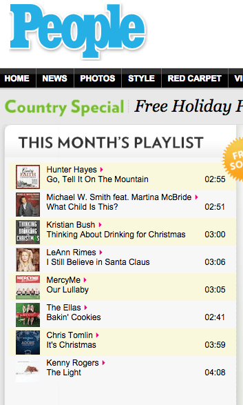 FREE Country Holiday Playlist Download From People!