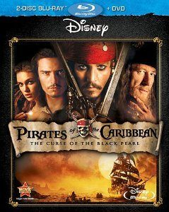 Pirates of the Caribbean: The Curse of the Black Pearl DVD/Blu-Ray Combo Only $5.99!