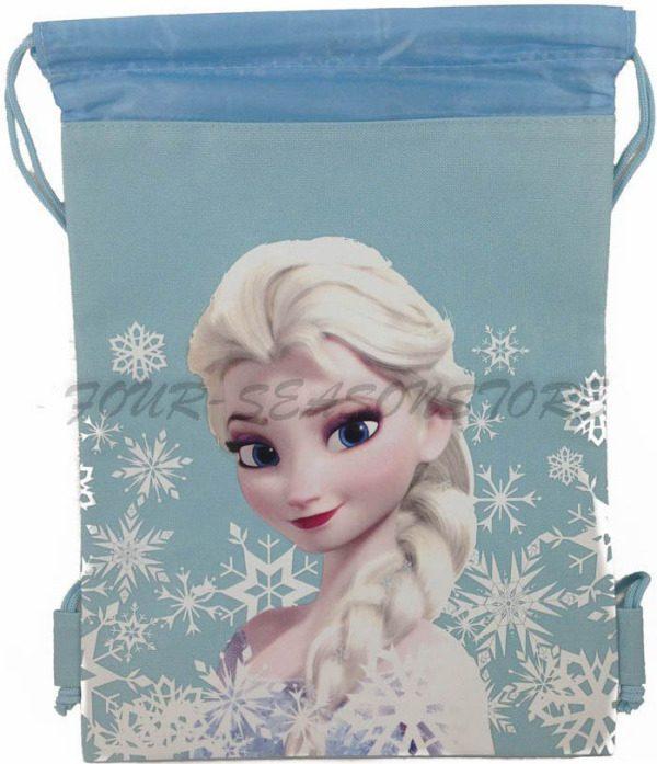 queen elsa drawstring backpack