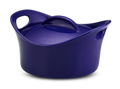 Rachael Ray Stoneware 2 3/4 Quart Covered Casserole, Blue Just $21.95!