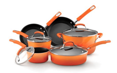 Rachael Ray Hard Enamel Nonstick 10-Piece Cookware Set Just $99 Down From  $245!