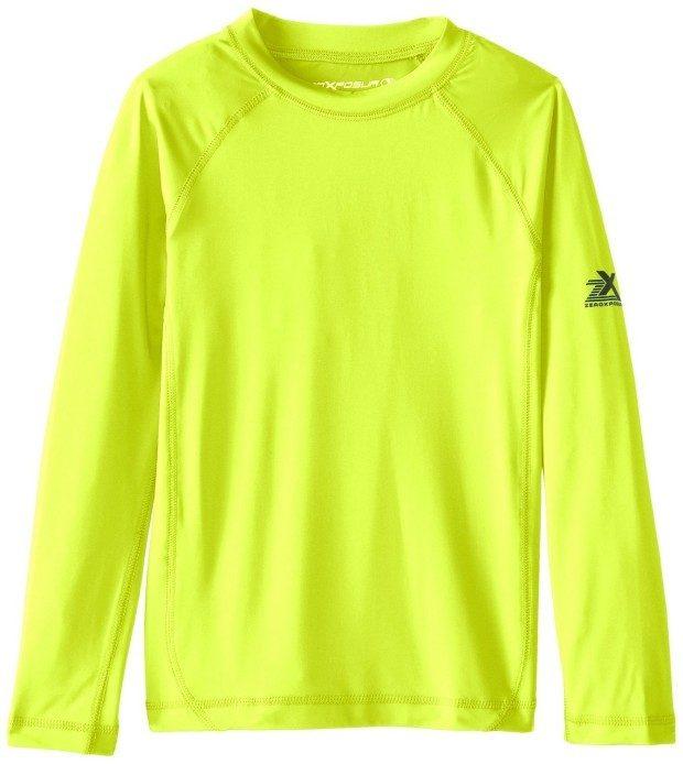 ZeroXposur Big Boys' Long Sleeve Rashguard Shirt As Low As $9.83!