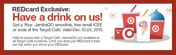 Target REDcard Holders: FREE JambaGo Smoothie, Icee Or Soda (December 10th-24th)