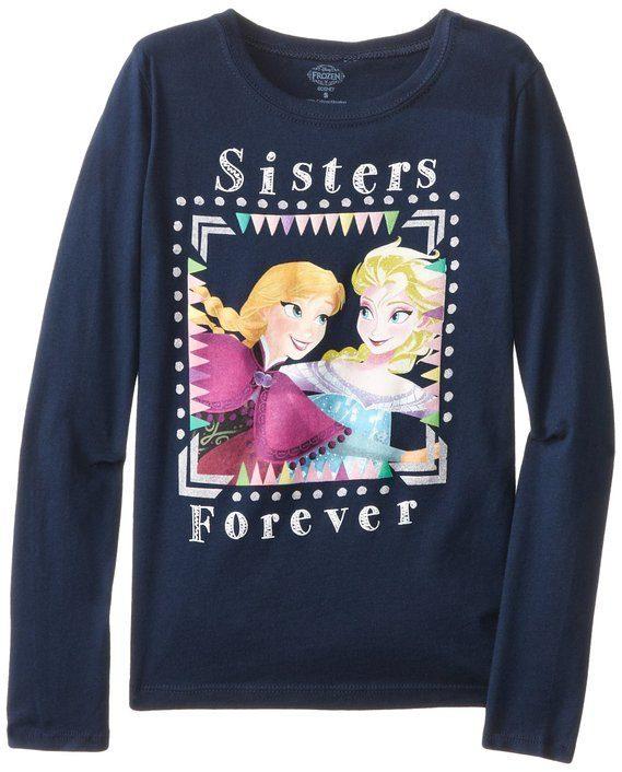 Disney Big Girls' Frozen Sisters Forever Long-Sleeve Shirt Just $11.49!