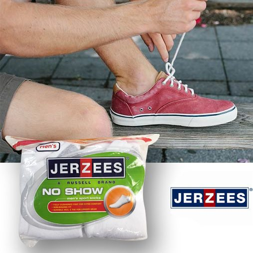 Jerzees Men's 10pack No-Show Socks Only $6.99 - Plus FREE Shipping!