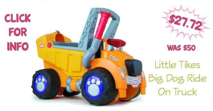 Little Tikes Big Dog Truck Ride On $27.72 Was ($50)!
